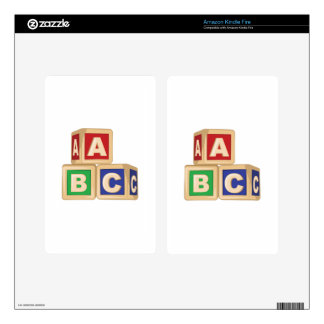 ABC Blocks Kindle Fire Decals