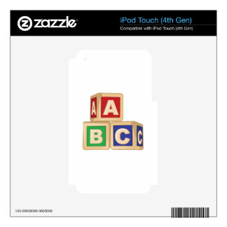 ABC Blocks Skin For iPod Touch 4G