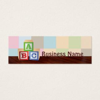 abc blocks Skinny Business Cards