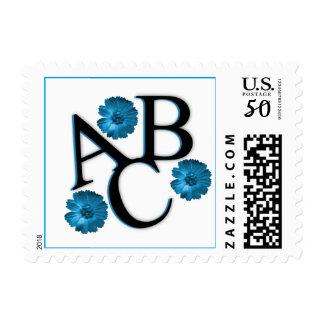 ABC Blue Flowers Postage