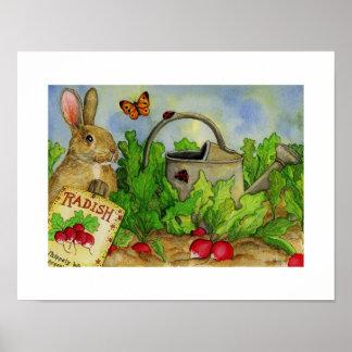 ABC book print of Rollie Rabbit.