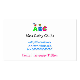 Abc, Double-Sided Standard Business Cards (Pack Of 100)
