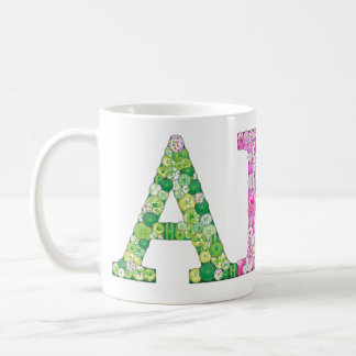 ABC Button Letter coffee mug