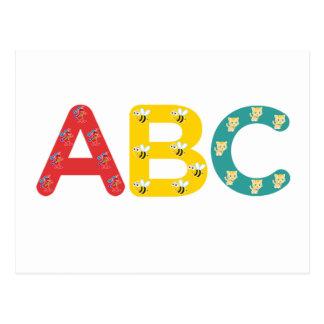 ABC by PaddleDuck Postcards