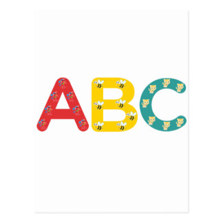 ABC by PaddleDuck Post Cards