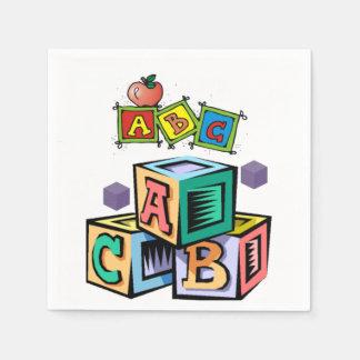 abc children's baby shower napkins first birthday
