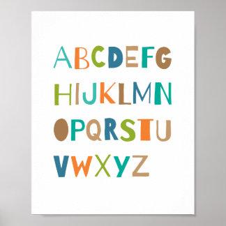 ABC Colorful Alphabet Nursery Art Decor | Boy