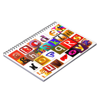 ABC Colorful Alphabets Spiral Notebooks