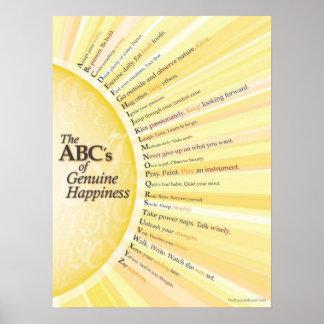 ABC de la felicidad auténtica Póster