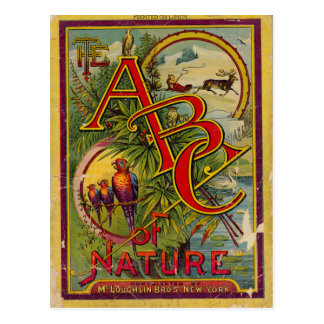 ABC de la naturaleza Tarjetas Postales