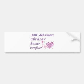 abc del amor bumper sticker