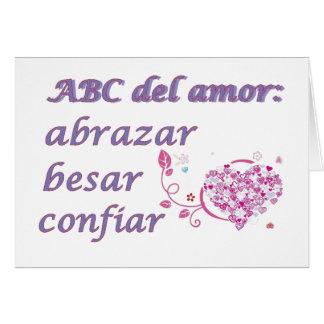 abc del amor card