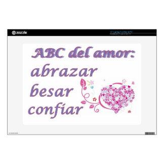 abc del amor skins for laptops