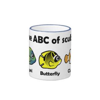 ABC del equipo de submarinismo Taza A Dos Colores