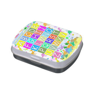 ABC Dinosaurs Learning to Read Letters Jelly Belly Tin