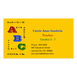 ABC Education Double-Sided Standard Business Cards (Pack Of 100)
