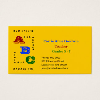 ABC Education Business Card