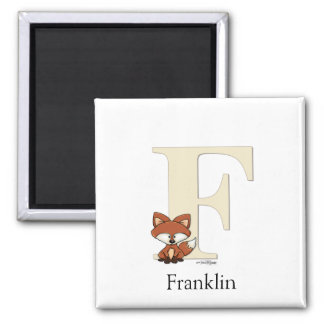 ABC - Fox Baby Gifts 2 Inch Square Magnet