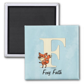 ABC - Fox Gifts 2 Inch Square Magnet