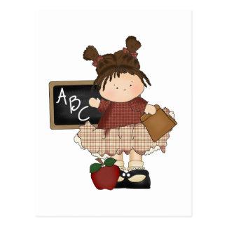 ABC Girl School Gift Postcard