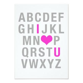 ABC —I Love (Heart) You (Valentine's Card) Card