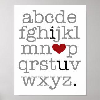 abc i♥u. poster