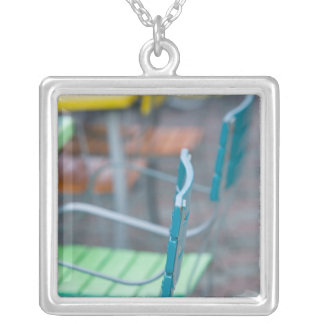 ABC Islands, ARUBA, Palm Beach: Colorful Cafe 2 Silver Plated Necklace