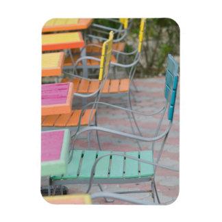 ABC Islands, ARUBA, Palm Beach: Colorful Cafe Vinyl Magnet