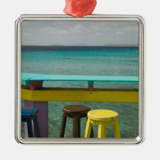 ABC Islands, BONAIRE, Kralendijk: Ocean View Square Metal Christmas Ornament
