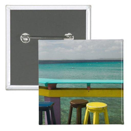 ABC Islands, BONAIRE, Kralendijk: Ocean View Pinback Button