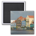 ABC Islands, CURACAO, Willemstad: Harborfront 2 2 Inch Square Magnet