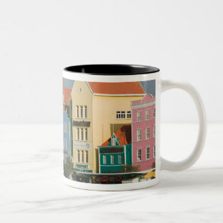 ABC Islands, CURACAO, Willemstad: Harborfront 2 Two-Tone Coffee Mug