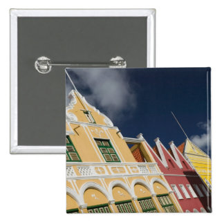 ABC Islands, CURACAO, Willemstad: Punda 2 Inch Square Button