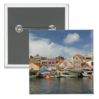 ABC Islands, CURACAO, Willemstad: Punda, 2 Inch Square Button