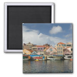 ABC Islands, CURACAO, Willemstad: Punda, 2 Inch Square Magnet