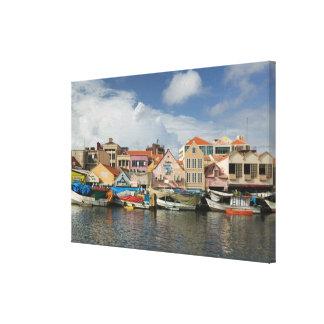 ABC Islands, CURACAO, Willemstad: Punda, Canvas Print