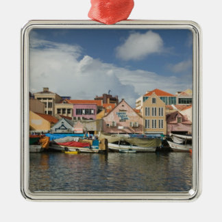 ABC Islands, CURACAO, Willemstad: Punda, Square Metal Christmas Ornament