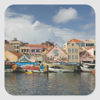 ABC Islands, CURACAO, Willemstad: Punda, Square Sticker