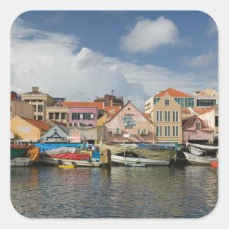 ABC Islands, CURACAO, Willemstad: Punda, Square Sticker
