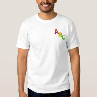 Abc Letters Embroidered T-Shirt