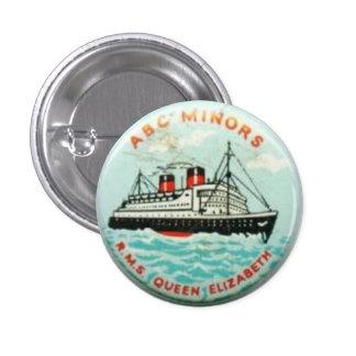 ABC Minors badge - HMS Queen Elizabeth Pinback Button