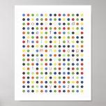 ABC Modern Dot Wall Art Poster