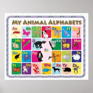 ABC: My Animal Alphabets Print