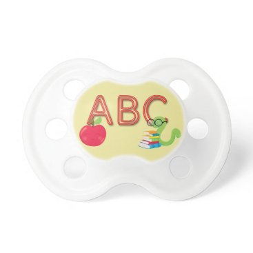 Beach Themed ABC Neon Letters Bookworm Pacifier