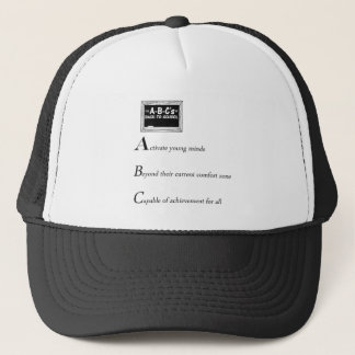 abc of back to school copy trucker hat