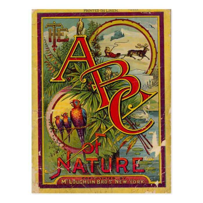 ABC of Nature Postcard