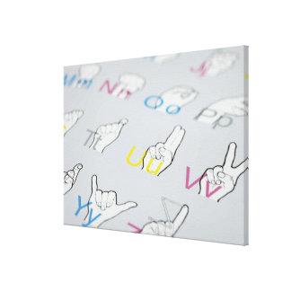 ABC of sign language Canvas Print