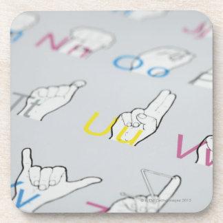 ABC of sign language Drink Coaster