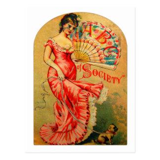 ABC Of Society Women Victorian Trade Card Art