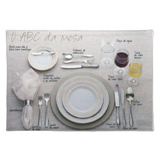 ABC of the Table Cloth Place Mat